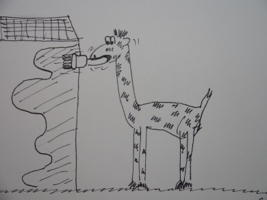 Cartoon Giraffe, Charlie Castor, Fun with Depression