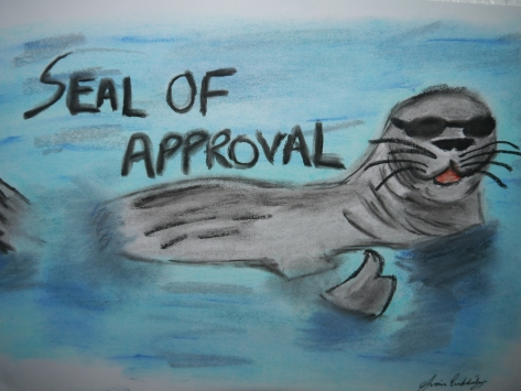 Seal of Approval, Cartoon Seal, Charlie Castor