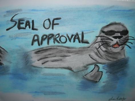 Seal of Approval, Cartoon Seal, Charlie Castor