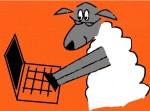 Cartoon Sheep, Fun with Depression, Sheep on Laptop