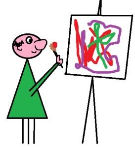 express yourself, cartoon, artist